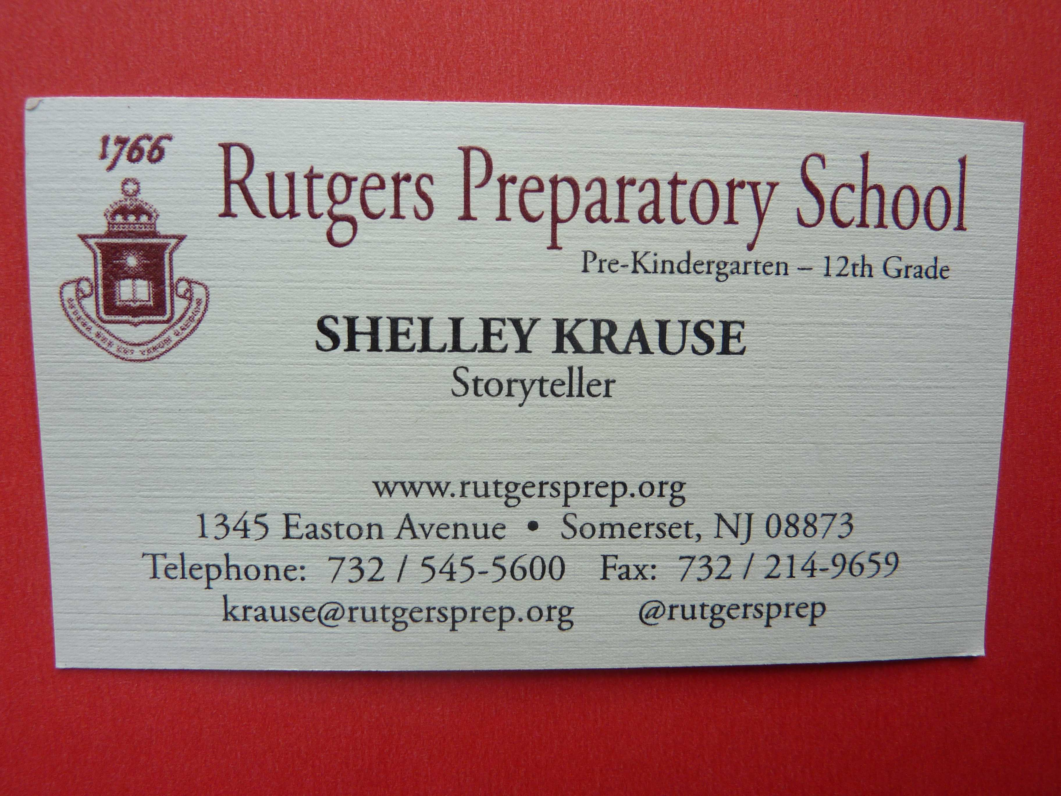 Connected learnings an american school based storyteller learns new business card reheart Images